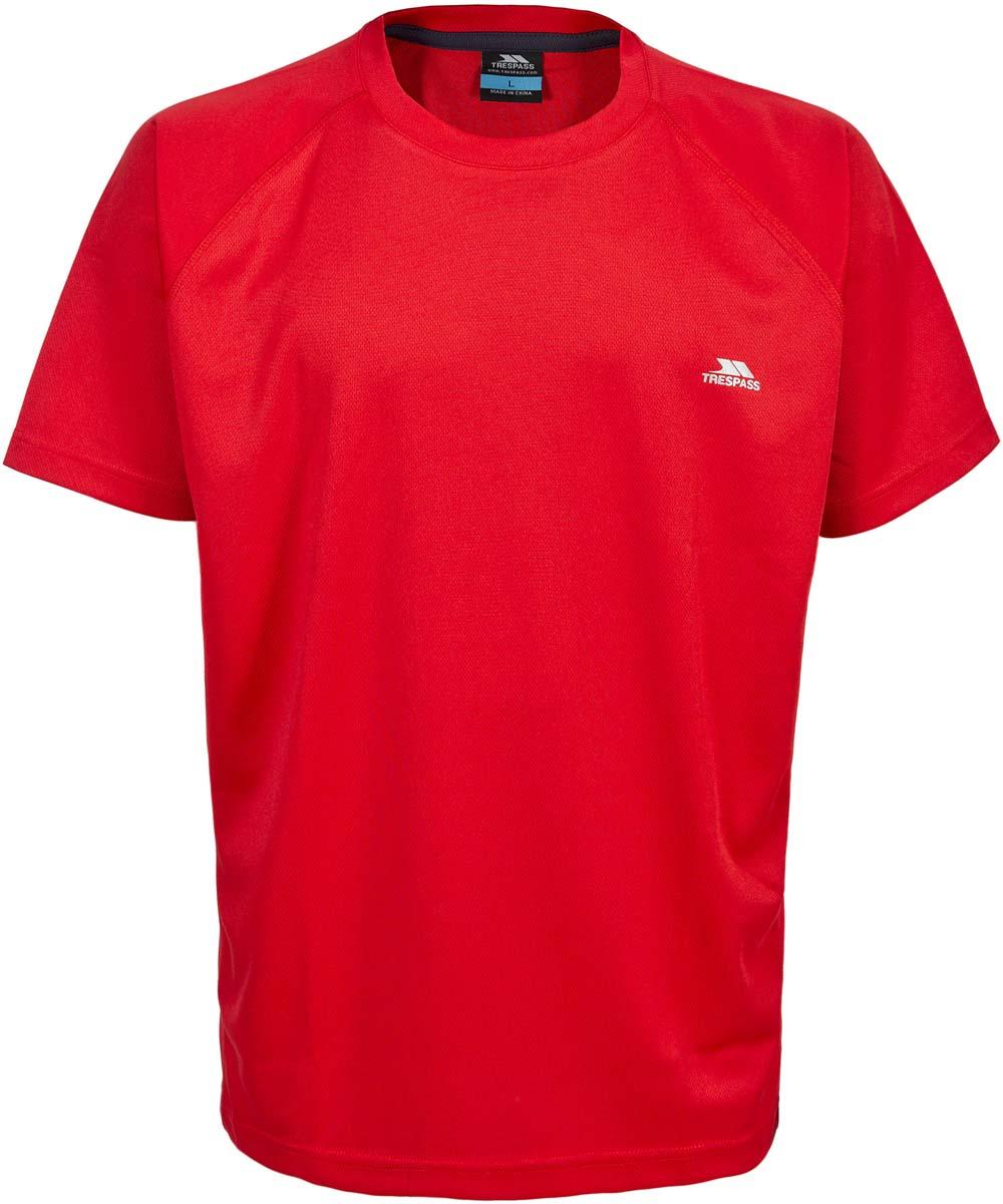 Футболка муж Trespass Debase, цвет: красный. MATOTSL10012. Размер M (50)MATOTSL10012Великолепная футболка для занятия спортом. Выполнена из легкого, дышашего, влаговыводящего, быстросохнущего материала.
