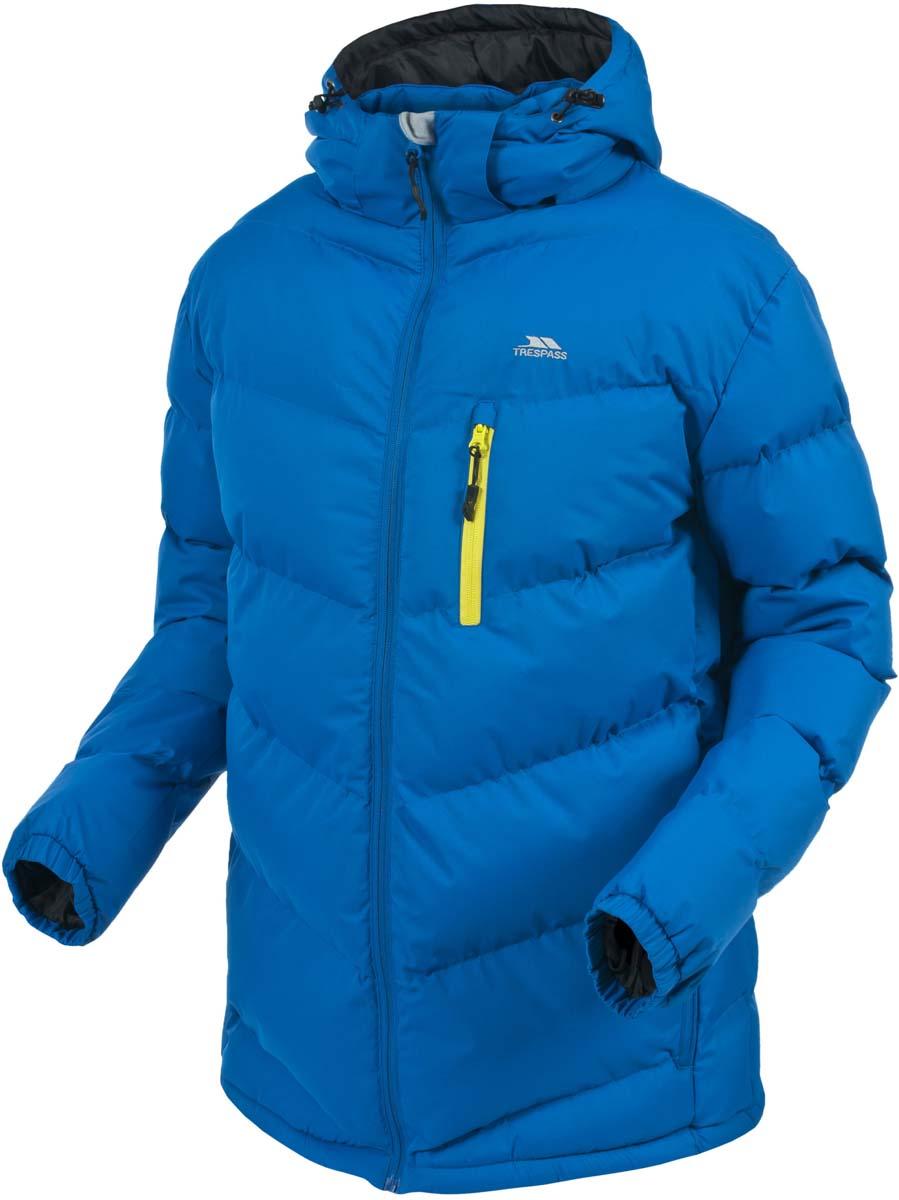 Куртка муж Trespass Blustery, цвет: синий. MAJKCAK20004. Размер XXS (44)MAJKCAK20004Великолепная теплая куртка для русской зимы в спортивном стиле. Верхний материал непромокаемый (5000), армированный (защита от разрыва). Утеплитель ColdHeat 320 г/м2(синтетический, микроволоконный с функцией быстрого отвода влаги и высоким уровнем теплозащиты и износостойкости). Прекрасно подойдет как для города, так и для отдыха на природе.
