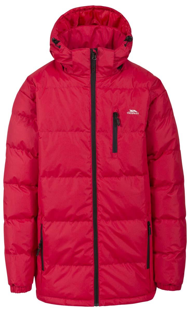 Куртка мужская Trespass Clip, цвет: красный. MAJKCAI20001. Размер L (52)MAJKCAI20001Великолепная теплая куртка для русской зимы Trespass Clip выполнена в спортивном стиле. Утеплитель ColdHeat 360 г/м2 (синтетический, микроволоконный с функцией быстрого отвода влаги и высоким уровнем теплозащиты и износостойкости). Каждый простроченный шов от иглы оставляет сотни отверстий, через которые влага может проникать внутрь куртки. Применение технологии Taped Seams - обработка швов термо-пластичесткой лентой под высоким давлением - запечатывает швы, тем самым препятствуя проникновению влаги внутрь куртки, дополнительно обеспечивая вашему телу сухость и комфорт. Материал верха защищает от влаги (влагозащита - 5 000мм) и имеет дополнительное усиление от разрыва. Утепленный регулируемый капюшон. Прекрасно подойдет как для города, так и для отдыха на природе.