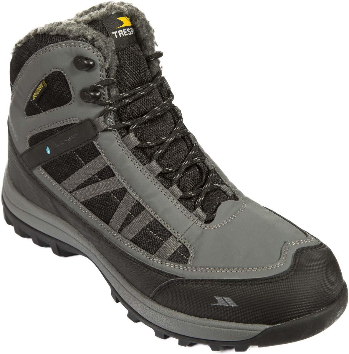 Ботинки трекинговые мужские Trespass Boreal, цвет: серый. MAFOBOK20005. Размер 45MAFOBOK20005Технологичные высокие трекинговые ботинки. Выполнены из мембранного материала. Утеплены микроволоконным утеплителем.