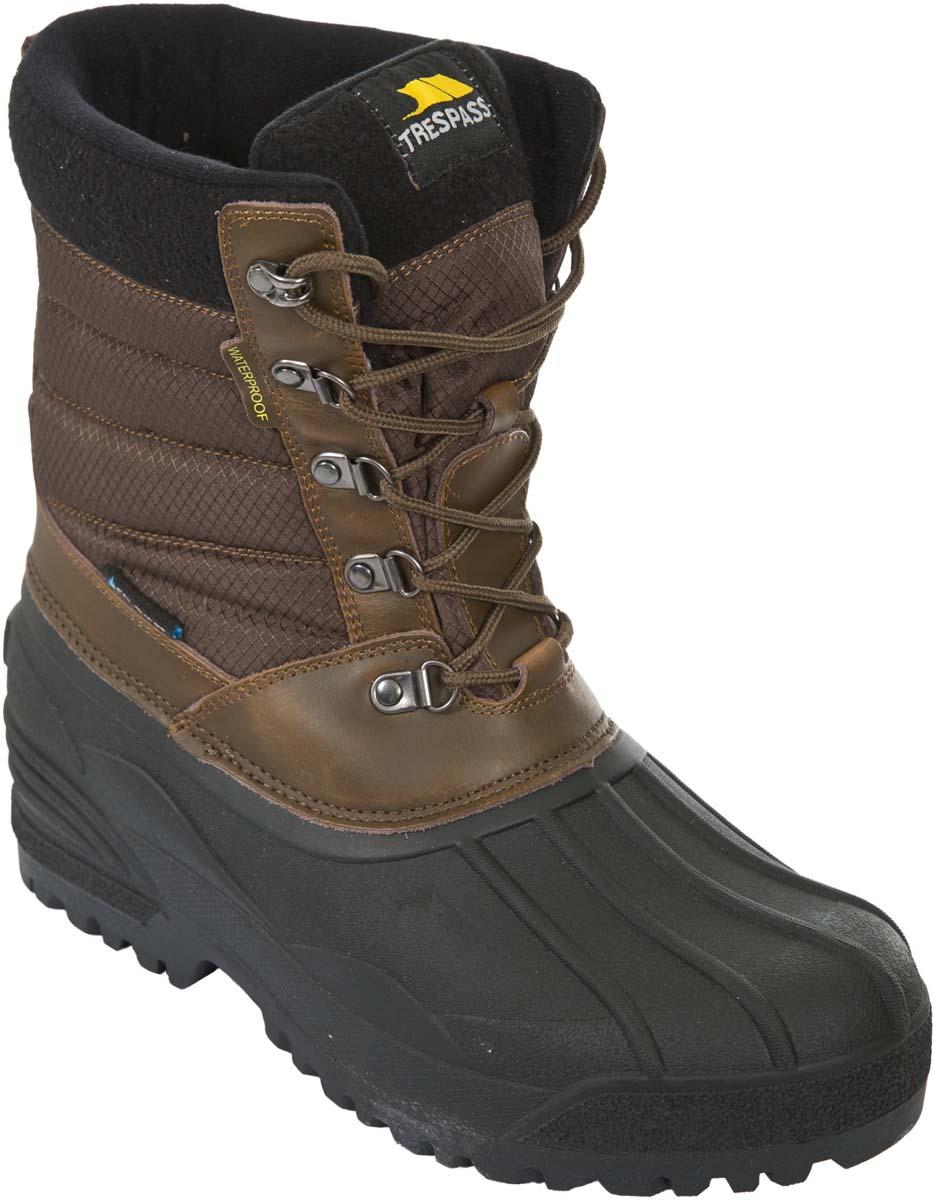 Ботинки трекинговые мужские Trespass Negev, цвет: коричневый, черный. MAFOBOK20004. Размер 42MAFOBOK20004Технологичные высокие трекинговые ботинки от Trespass выполнены из мембранного материала. Утеплены микроволоконным утеплителем. На ноге фиксируются при помощи шнуровки.