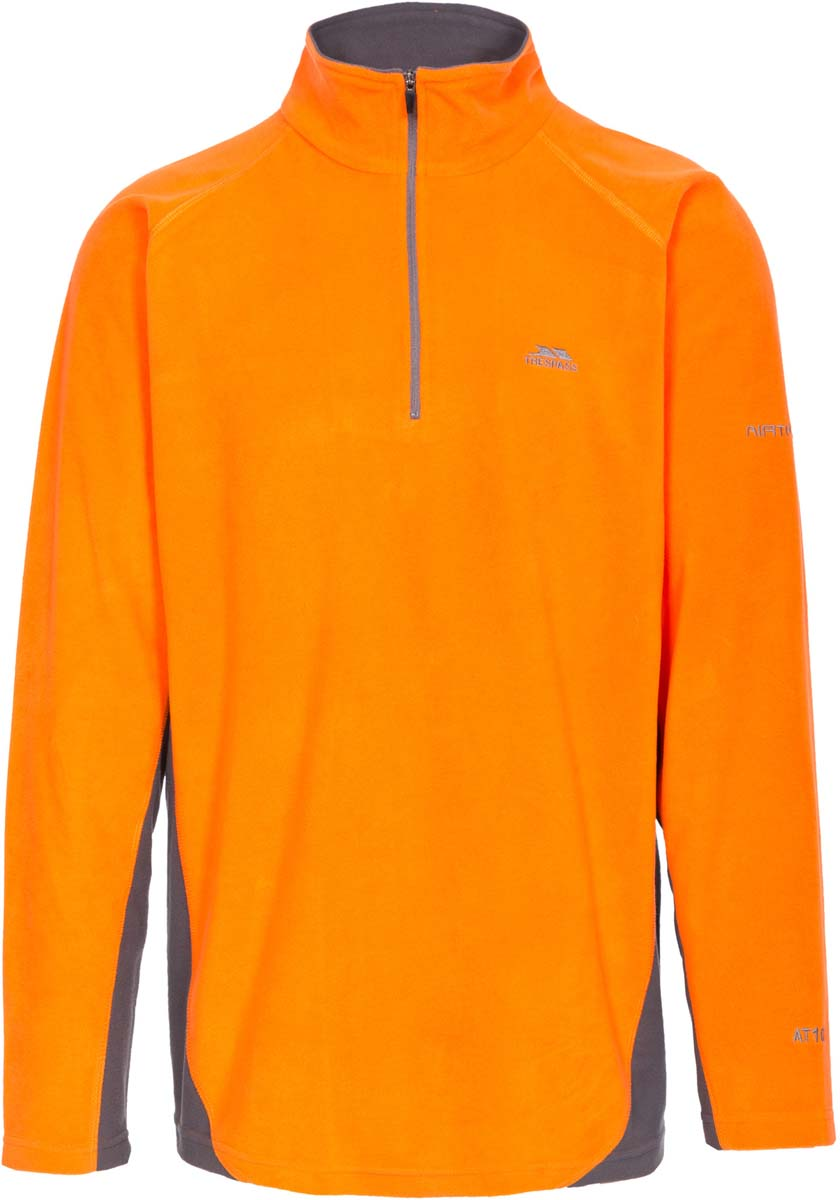 Толстовка мужская Trespass Tron, цвет: оранжевый. MAFLMFG20001. Размер M (50)MAFLMFG20001Великолепная мужская толстовка Trespass Tron выполнена из полиэстера. Модель с длинными рукавами реглан и воротником-стойкой. Модель спереди застегивается на молнию.