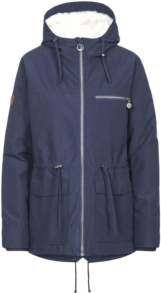 Куртка жен Trespass Forever, цвет: синий. FAJKRAM20009. Размер XL (50)FAJKRAM20009Стильная женская куртка из мембранного материала с показателями 3000/ 3000мм. Прекрасно защитит от дождя и ветра. Флисовая подкладка. Все швы проклеены.