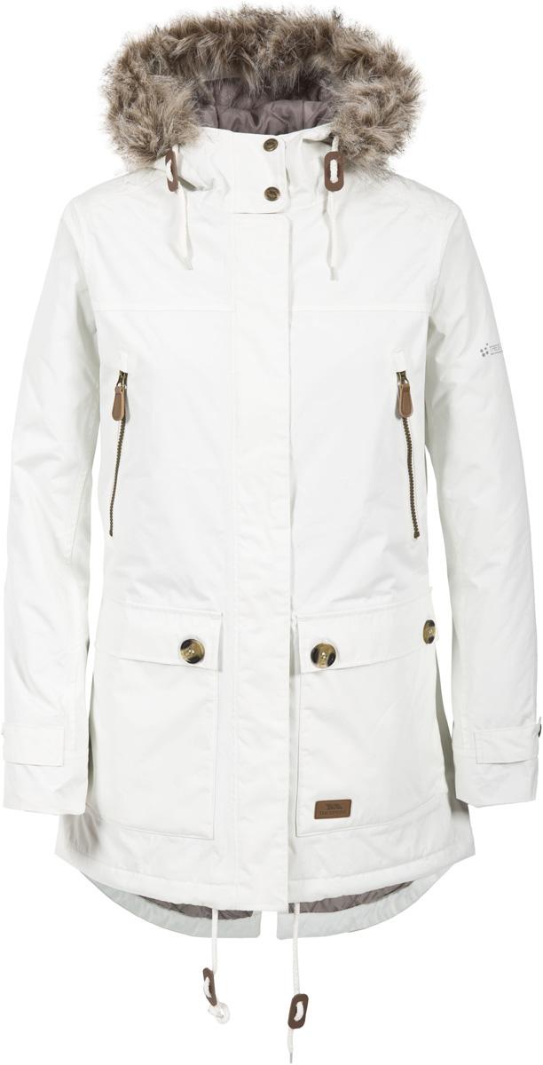 Куртка жен Trespass Clea, цвет: бежевый. FAJKRAL20002. Размер M (46)FAJKRAL20002Стильная женская куртка из мембранного материала с показателями водонепроницаемости 5000мм. Прекрасно защитит от дождя и ветра. Все швы проклеены.