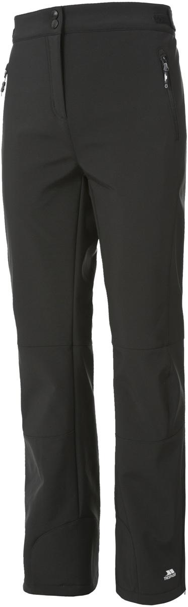 Брюки утепленные жен Trespass Squidge_Ii, цвет: черный. FABTRAM10001. Размер L (48)FABTRAM10001Превосходные спортивные брюки. Модель из эластичного материала SOFTSHELL обеспечит комфортную посадку. Верхний материал мембранный 2000/3000. По бокам - прорезные карманы.