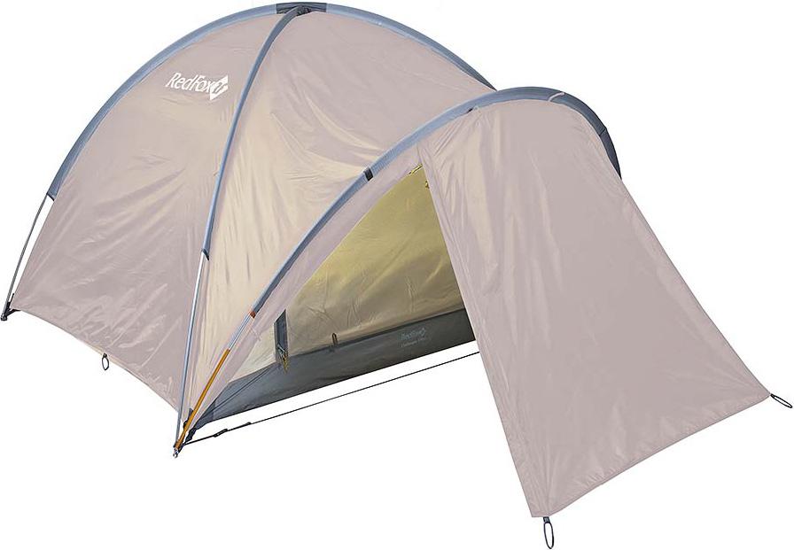 Палатка Red Fox Challenger 3 Plus, цвет: светло-бежевый33780Комфортная палатка для активного отдыха и туризма. Палатка обладает простым в установке и исключительно прочным каркасом. Основная особенность модели: внутренняя палатка и тент устанавливаются одновременно.В модели продуманы два входа и два тамбура, один из которых большего размера за счет применения третьей дуги. Конструкция дополнена вентиляционными окнами на молнии, входы внутренней палатки продублированы противомоскитными сетками- материал: Polyester 190T W/R BR- материал тента: Polyester 190T W/R PU 7000- материал дна: Nylon 190T W/R PU 9000- полиуретановое покрытие ткани, нанесенное на внутреннюю сторону, для водонепроницаемости- стойки: Алюминий 7001-Т6, d 11- два входа, два тамбура, один из которых увеличенного размера за счет применения третьей дуг- входы внутренней палатки продублированы противомоскитными сетками- закрывающиеся вентиляционные окна- проклеенные швы- удобные внутренние карманы для вещей первой необходимости- штормовые оттяжки- очень легко и быстро устанавливается одним человеком- одновременно устанавливаются внутренняя палатка и тент- есть возможность установить внутреннюю палатку отдельно- вместимость: 3 человека- размеры: (115+175+95)х225х135 см- габариты в сложенном виде: 50x21x21 см