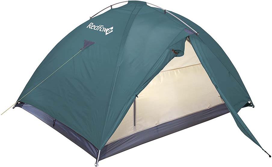 Палатка Red Fox Challenger 3, цвет: зеленый33781Комфортная палатка для активного отдыха и туризма. Палатка обладает простым в установке и исключительно прочным каркасом. Основная особенность модели: внутренняя палатка и тент устанавливаются одновременно.В модели продуманы два входа и два тамбура, один из которых большего размера за счет применения третьей дуги. Конструкция дополнена вентиляционными окнами на молнии, входы внутренней палатки продублированы противомоскитными сетками.- материал: Polyester 190T W/R BR- материал тента: Polyester 190T W/R PU 7000- материал дна: Nylon 190T W/R PU 9000- полиуретановое покрытие ткани, нанесенное на внутреннюю сторону, для водонепроницаемости- стойки: Алюминий 7001-Т6, d 11- два входа, два тамбура, один из которых увеличенного размера за счет применения третьей дуги- входы внутренней палатки продублированы противомоскитными сетками- закрывающиеся вентиляционные окна- проклеенные швы - удобные внутренние карманы для вещей первой необходимости- штормовые оттяжки- очень легко и быстро устанавливается одним человеком- одновременно устанавливаются внутренняя палатка и тент - есть возможность установить внутреннюю палатку отдельно- вместимость: 3 человека- размеры: (115+175+95)х225х135 см- габариты в сложенном виде: 50x21x21 см