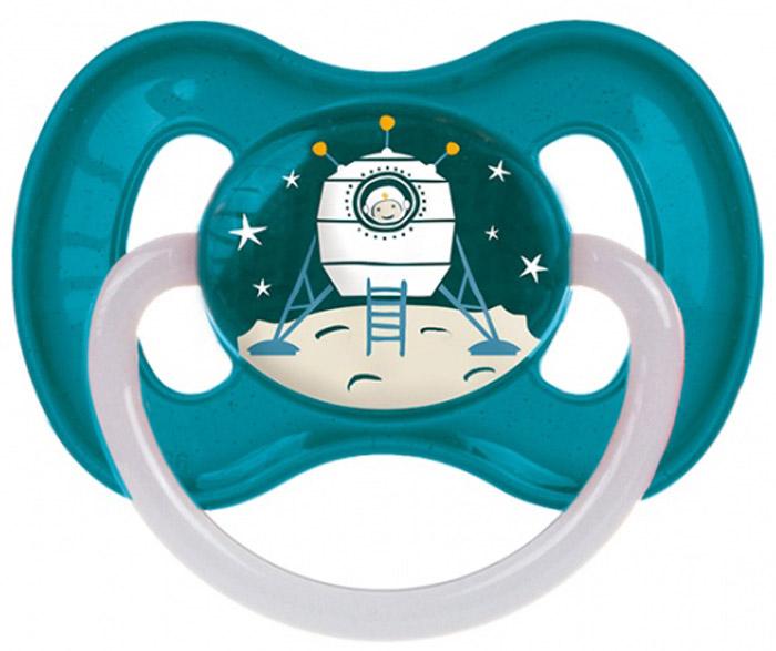 Canpol Babies Пустышка латексная Space от 6 до 18 месяцев цвет бирюзовый