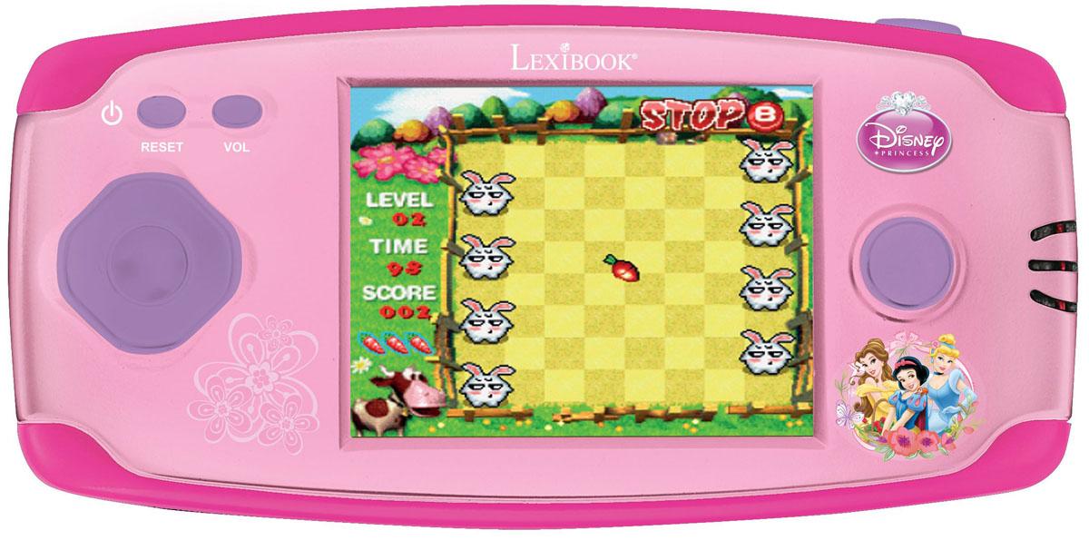 Lexibook портативная игровая консоль Принцессы Дисней + 150 игр267338Великолепная игровая консоль с изображением Принцесс Диснея, для любителей игр !- 150 классических игр собрались в одной консоли: приключение, аркада, игры, кирпич, и многое другое !- Высокое качество графики-16 бит- Экран 2.2'