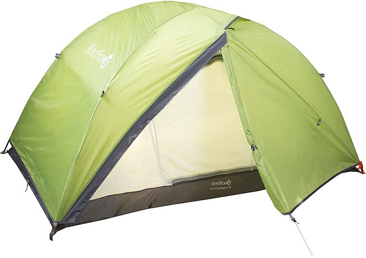 Палатка Red Fox Fox Comfort 2 V2, цвет: зеленый