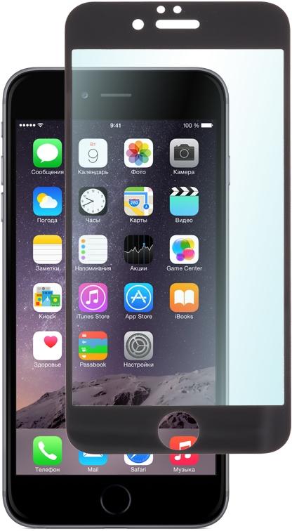 Skinbox защитное стекло для Apple iPhone 6 full screen, BlackSP-379Защитное стекло Skinbox для Apple iPhone 6/6s обеспечивает надежную защиту сенсорного экрана устройства от большинства механических повреждений и сохраняет первоначальный вид дисплея, его цветопередачу и управляемость. В случае падения стекло амортизирует удар, позволяя сохранить экран целым и избежать дорогостоящего ремонта. Стекло обладает особой структурой, которая держится на экране без клея и сохраняет его чистым после удаления.