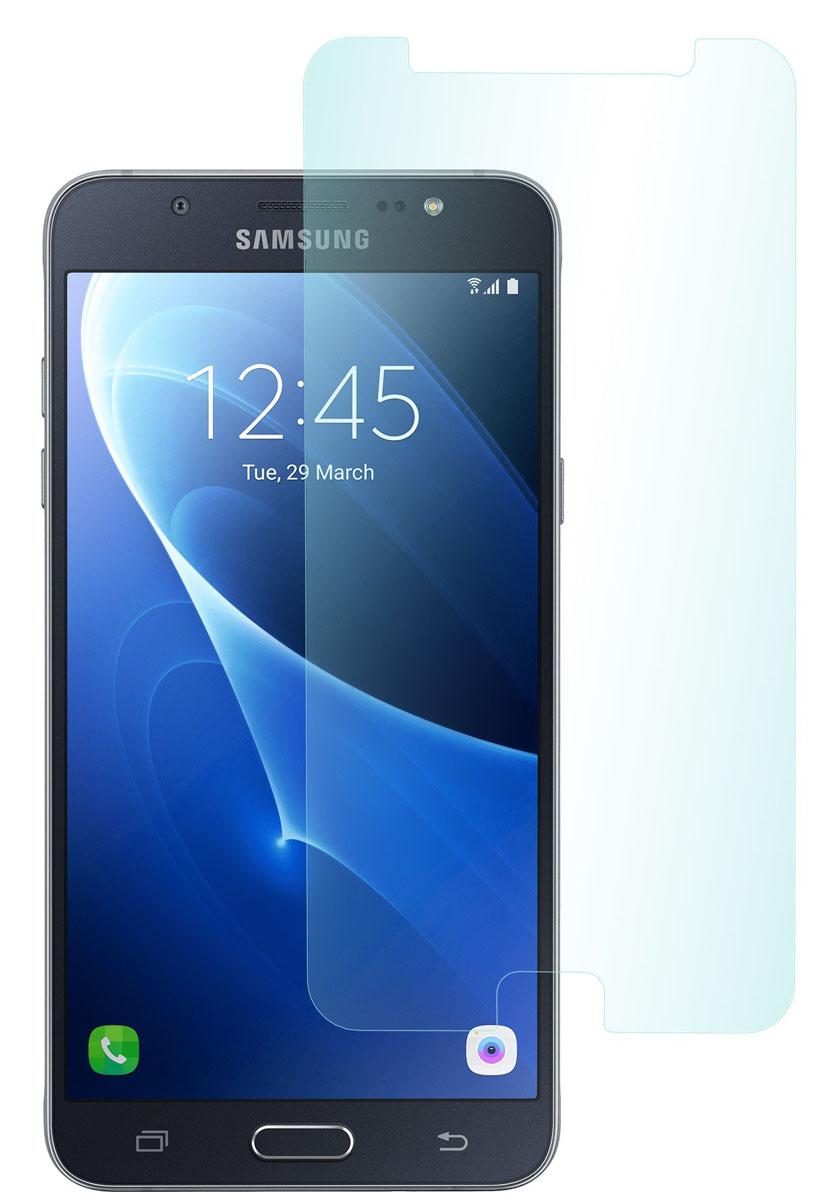 Skinbox защитное стекло для Samsung Galaxy J7 (2016), глянцевоеSP-376Защитное стекло Skinbox для Samsung Galaxy J7 (2016) обеспечивает надежную защиту сенсорного экрана устройства от большинства механических повреждений и сохраняет первоначальный вид дисплея, его цветопередачу и управляемость. В случае падения стекло амортизирует удар, позволяя сохранить экран целым и избежать дорогостоящего ремонта. Стекло обладает особой структурой, которая держится на экране без клея и сохраняет его чистым после удаления.