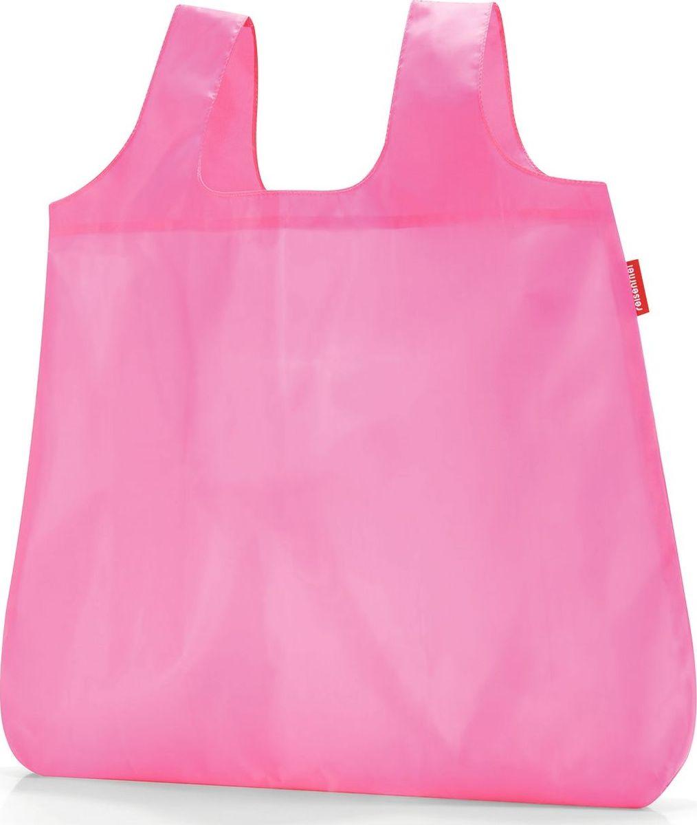 Сумка складная Reisenthel, цвет: розовый. AO3057AO3057Стильная и практичная сумка Reisenthel для походов по магазинам. Экологичная альтернатива одноразовым пакетам. Компактно складываться в небольшой чехольчик и может поместиться даже в карман. У чехла есть карабин, что позволяет прикрепить его к сумке или рюкзаку. Вместительная и прочная сумка будет всегда под рукой на случай непредвиденных покупок.Размер в сложенном состоянии: 10 х 6 х 2 см. Удобные широкие лямки для переноски в руках. Объем: 15 л.