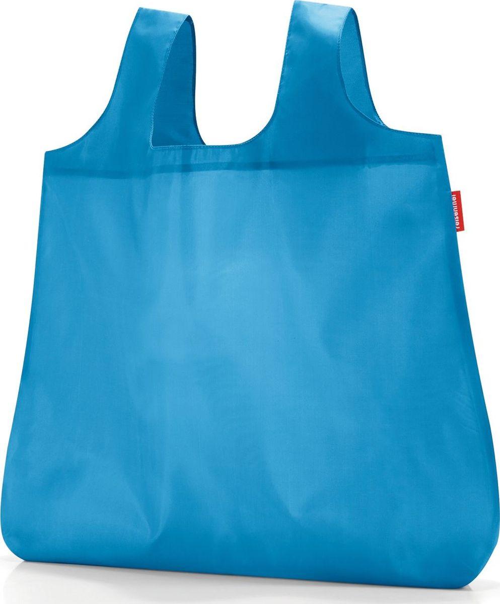 Сумка складная Reisenthel, цвет: голубой. AO4054AO4054Стильная и практичная сумка Reisenthel для походов по магазинам. Экологичная альтернатива одноразовым пакетам. Компактно складываться в небольшой чехольчик и может поместиться даже в карман. У чехла есть карабин, что позволяет прикрепить его к сумке или рюкзаку. Вместительная и прочная сумка будет всегда под рукой на случай непредвиденных покупок.Размер в сложенном состоянии: 10 х 6 х 2 см. Удобные широкие лямки для переноски в руках. Объем: 15 л.