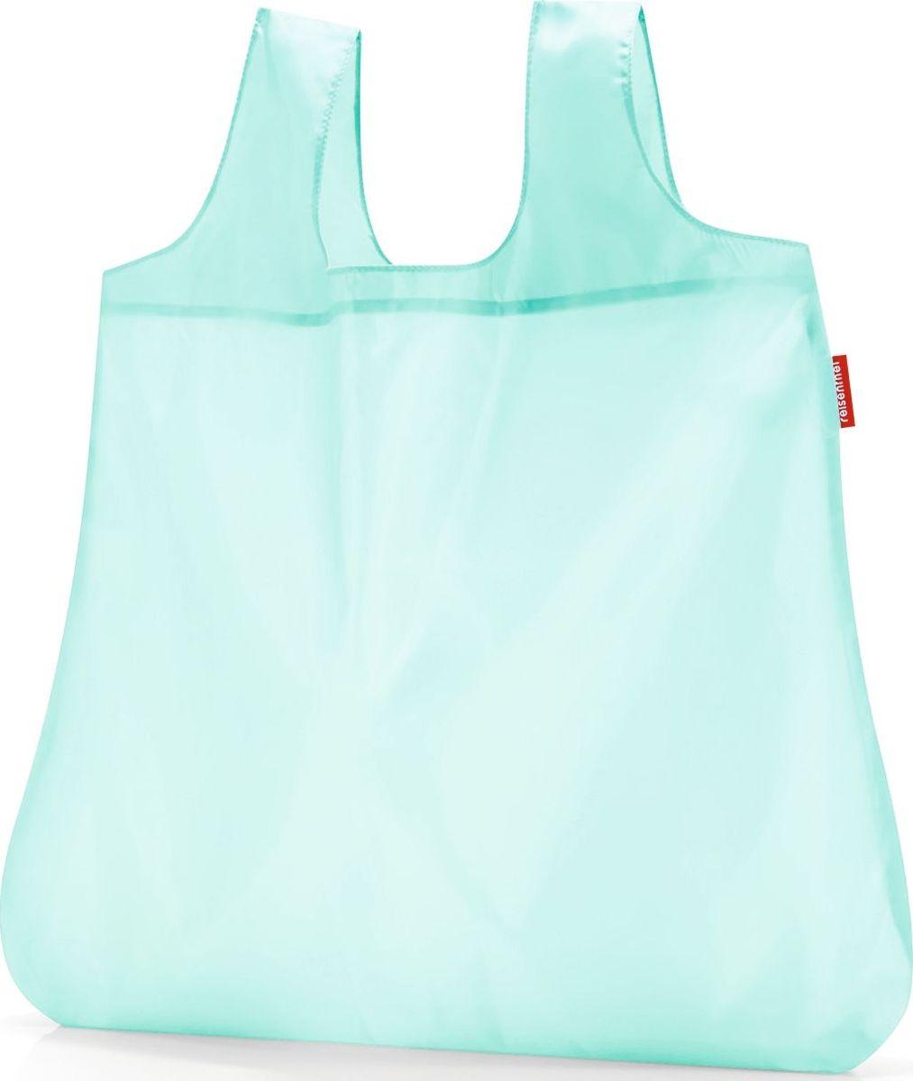 Сумка складная Reisenthel, цвет: голубой. AO4056AO4056Стильная и практичная сумка Reisenthel для походов по магазинам. Экологичная альтернатива одноразовым пакетам. Компактно складываться в небольшой чехольчик и может поместиться даже в карман. У чехла есть карабин, что позволяет прикрепить его к сумке или рюкзаку. Вместительная и прочная сумка будет всегда под рукой на случай непредвиденных покупок.Размер в сложенном состоянии: 10 х 6 х 2 см. Удобные широкие лямки для переноски в руках. Объем: 15 л.