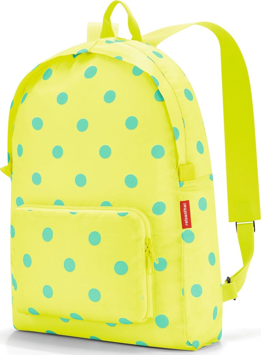 Рюкзак складной Reisenthel Mini Maxi Lemon Dots, цвет: желтый, голубой. AP2025 reisenthel сумка allrounder l dots e5x dkcr