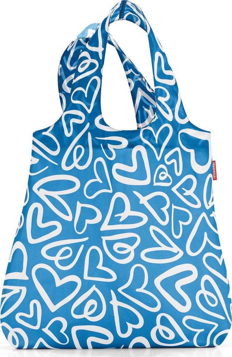 Сумка складная Reisenthel, цвет: голубой. AT4051AT4051Стильная и практичная сумка Reisenthel для покупок. Экологичная альтернатива одноразовым пакетам. Компактно сворачивается и фиксируется резинкой для удобства переноски. Размер в сложенном состоянии: 12 х 6 х 2 см. Удобные длинные ручки. Объем: 15 л.