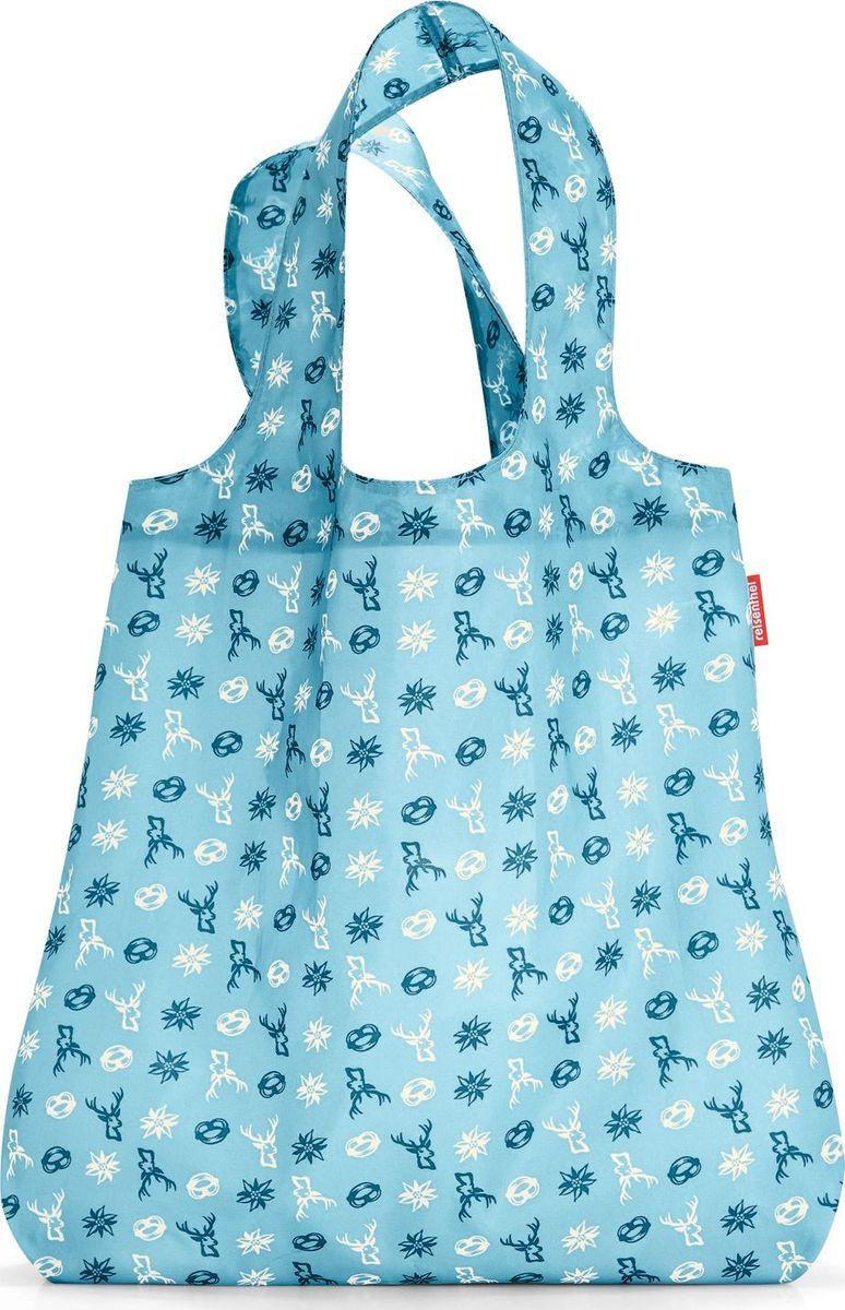 Сумка складная Reisenthel, цвет: голубой. AT4060AT4060Привлекательная и практичная сумка Reisenthel для походов по магазинам является экологичной альтернативой одноразовым пакетам. Используя эту сумку, вы заботитесь об окружающей среде и при этом стильно выглядите.Сумка компактно сворачивается и фиксируется резинкой для удобства переноски.Вместительная и прочная сумка будет всегда под рукой на случай непредвиденных покупок. Удобные широкие лямки позволяют нести ее с комфортом. Во время похода в магазин в сумку поместится все самое необходимое.Материал – высококачественный полиэстер. Этот водоотталкивающий материал легко чистится и прекрасно выглядит. Сумка прослужит вам действительно долго и будет радовать своим удобством. Размер в сложенном состоянии: 12 х 6 х 2 см.Объем: 15 л.