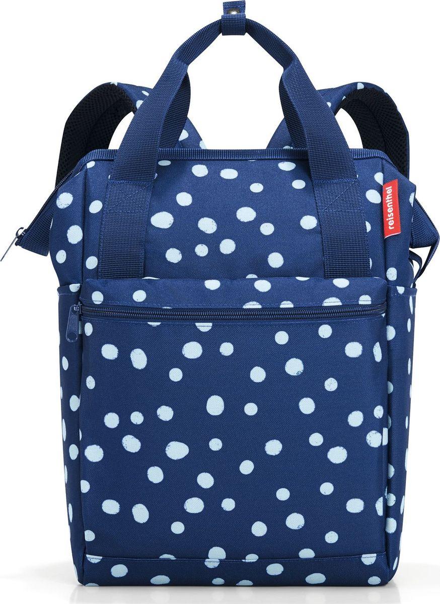 Сумка-рюкзак Reisenthel Allrounder R, цвет: темно-синий, белый. JR4044 reisenthel сумка allrounder l dots e5x dkcr