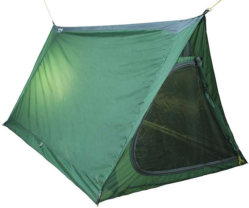 Палатка Red Fox Light Fox V2, цвет: зеленый33783Очень легкая однослойная палатка для велопутешествий и активного отдыха. Внешняя поверхность тента имеет силиконовое покрытие, обеспечивающее повышенную гладкость ткани, способствующее легкому соскальныванию снега, льда и воды. Входы продублированы противомоскитными сетками. Два входа, две вентиляции. Для установки палатки необходимы дополнительные стойки (например, треккинговые палки).- тент: Nylon Rip Stop 210T Sil\PU 5000- дно: Nylon Rip Stop 210T Sil\PU 5000- размеры: 210х120х100 см- габариты в сложенном виде: 30x13x13 см