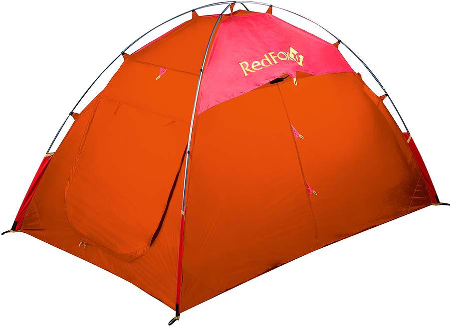 Палатка Red Fox Solo XC, цвет: оранжевый29019Ультралегкая палатка для экстремальных восхождений. Прочная, ветроустойчивая, удобная в установке благодаря высокотехнологичной конструкции каркаса DAC.Внешняя поверхность тента имеет силиконовое покрытие, способствующее легкому соскальзыванию снега, льда и воды. Съемная внутренняя палатка позволяет использовать модель при более низких температурах. Продуманы два входа, два вентиляционных окна на молнии.- Легко устанавливается одним человеком- Наличие штормовых оттяжек - Проклеенные швы - Удобные внутренние карманы для вещей первой необходимости - Полиуретановое покрытие ткани, нанесенное на внутреннюю сторону, для водонепроницаемости - Подвесная палочка для мелких вещей - Съемная внутренняя палатка - Наличие вентиляции - Упаковывается в специальный компрессионный мешок- Две закрывающихся на молнию вентиляции- вес: min 1,45кг, max 2,15 кг- размеры: 200*135*120 см- габариты в сложенном виде: 51x15x15 см- тент: Nylon Rip Stop 210T Silicone 5000- палатка: Polyester 190T W/R BR - стойки: Алюминий 7001-Т6, d 8,5- дно: Nylon Rip Stop 210T Silicone 5000