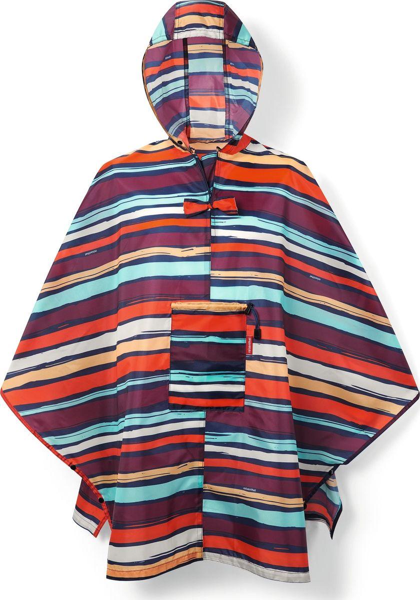 Дождевик Reisenthel, цвет: фиолетовый, оранжевый, голубой. AN3058. Размер универсальныйAN3058Компактный и легкий дождевик из плотного водоотталкивающего материала застегивается на кнопки под мышками, а широкий воротник на молнии облегчает надевание. Он компактно сворачивается внутрь собственного внешнего кармана и легко поместится в сумку.