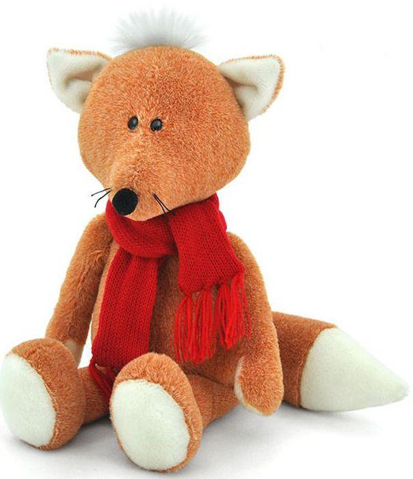 Orange Мягкая игрушка Лисёнок Рыжик в шарфике 27 см - Мягкие игрушки