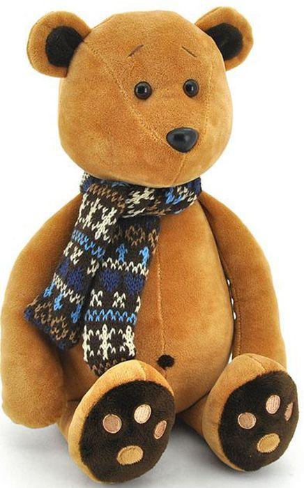 Orange Мягкая игрушка Медвежонок Медок в шарфике 30 см - Мягкие игрушки