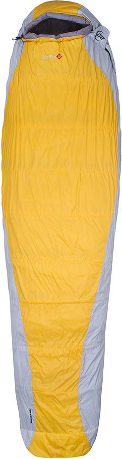 Мешок спальный Red Fox Arctic-20, цвет: желтый, светло-серый, левосторонняя молния, 213 х 83 см пальто женское red fox цвет светло серый 1040747 размер l 50