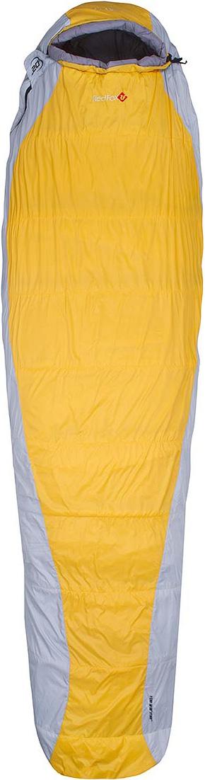 Мешок спальный Red Fox Arctic-20, цвет: желтый, светло-серый, правосторонняя молния, 203 x 81 см29033Серия синтетических спальных мешков для треккинга, рассчитанных на использование при очень низких температурах. Особенность моделей: в конструкции применена специальная технология расположения слоев утеплителя в виде черепичной системы, благодаря которой спальные мешки прекрасно согревают. Удобный капюшон моделей обеспечивает максимальное сохранение тепла. На капюшоне продуманы чувствительные шнуры, круглый и плоский, для регулировки в темноте. Предусмотрены петли для сушки и хранения.- материал: 44D 260T Nylon Diamond Rip Stop, 44D 232T Nylon Tafetta, 68D 210T Poly Tafetta- подкладка: 50D 300T Poly Tafetta/ 150D 144F poly fleece- утеплитель: Omnitherm HL- диапазон температур, °C: +3 .. -2 .. -19 (протестировано тестом EN 13537) - размер, см: Regular: 203х81, XL long 213х83- вес, г: Regular 1500, XL long 1650