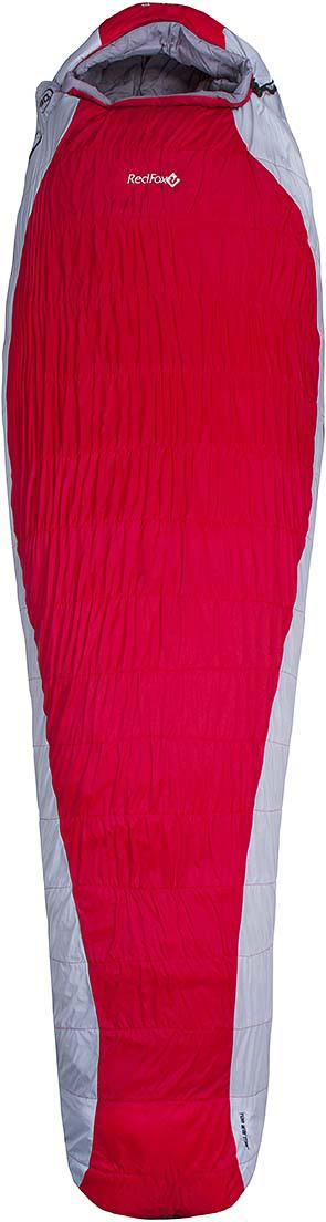Мешок спальный Red Fox Arctic-30, цвет: красный, светло-серый, правосторонняя молния, 203 x 81 см пальто женское red fox цвет светло серый 1040747 размер l 50
