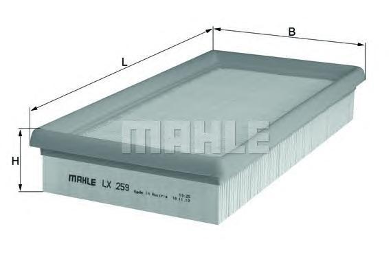 Фильтр воздушный Mahle/Knecht LX259LX259