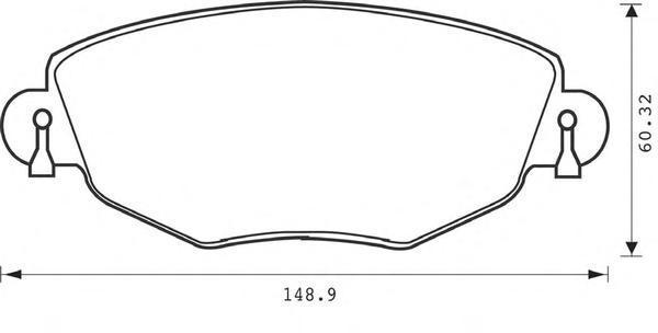 Колодки тормозные передние Jurid 573013J573013J