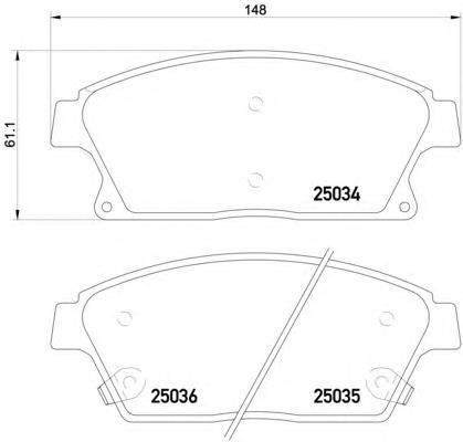 Колодки тормозные дисковые, комплект BEHR-HELLA 8DB3550152418DB355015241