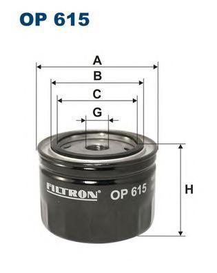 Фильтр масляный Filtron OP615OP615