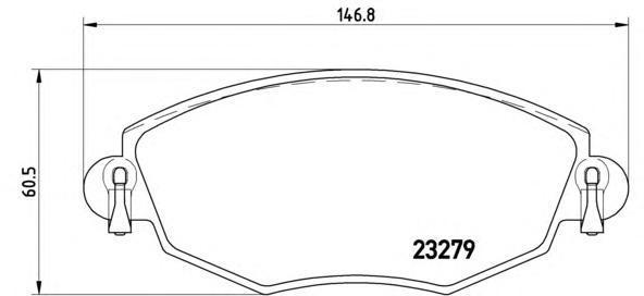 Колодки тормозные передние Brembo P24060P24060