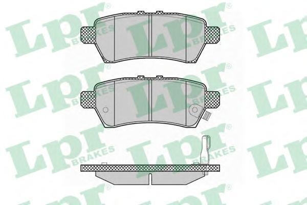 Колодки тормозные задние LPR / AP 05P137705P1377