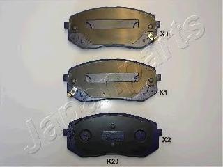 Колодки тормозные дисковые Japanparts PAK20AFPAK20AF