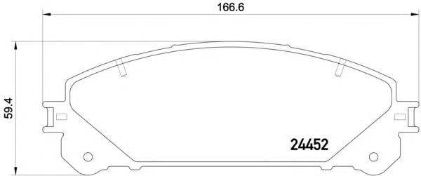 Колодки тормозные дисковые Textar 24452012445201