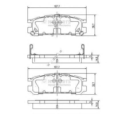 Колодки тормозные задние Nipparts J3617001J3617001
