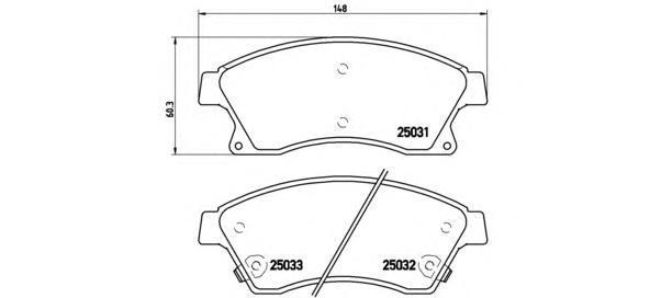 Колодки тормозные передние Brembo P59076P59076