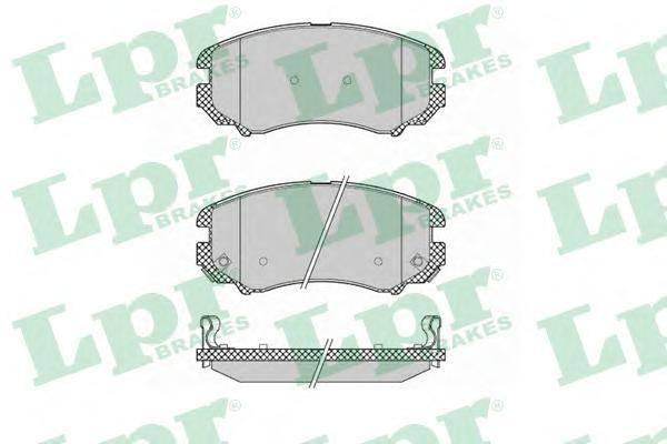 Колодки тормозные передние LPR / AP 05P136905P1369