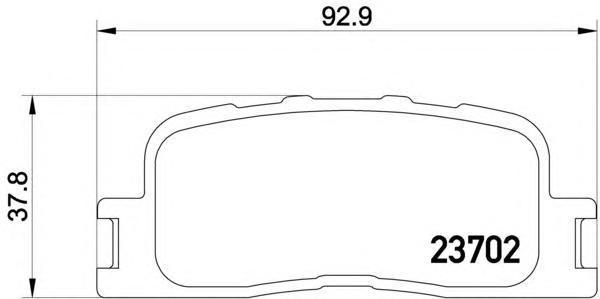 Колодки тормозные дисковые, комплект BEHR-HELLA 8DB3550110018DB355011001
