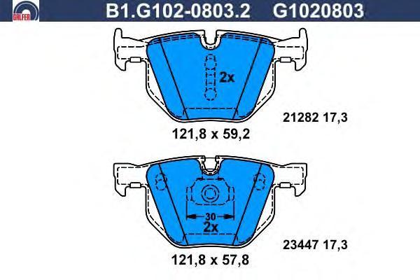 Колодки тормозные дисковые Galfer B1G10208032B1G10208032
