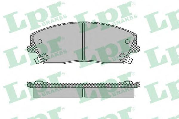 Колодки тормозные передние LPR / AP 05P139905P1399
