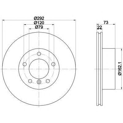 Диск тормозной Pro BEHR-HELLA 8DD355111241 комплект 2 шт8DD355111241