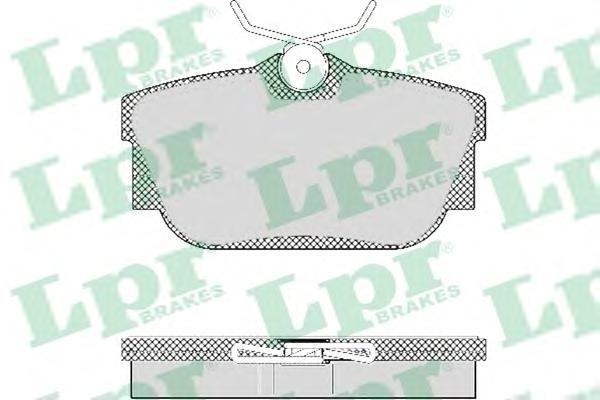 LPR / AP Колодки тормозные передние дисковые. 05P1303 ap 9803