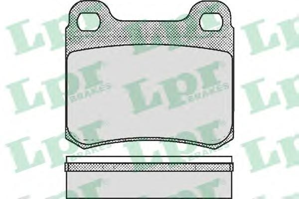 Колодки тормозные LPR / AP 05P18105P181