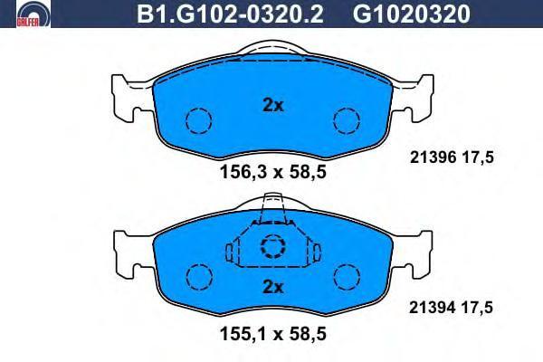 Колодки тормозные Galfer B1G10203202B1G10203202