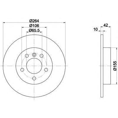 Диск тормозной Textar 92092103 комплект 2 шт92092103